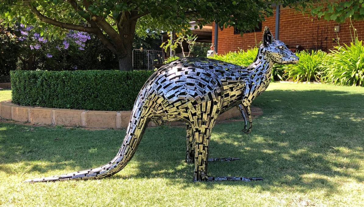 Artist Brian Plank's 'Western Grey', installed at Capecare Dunsborough. Photo: Facebook/Brian Plant